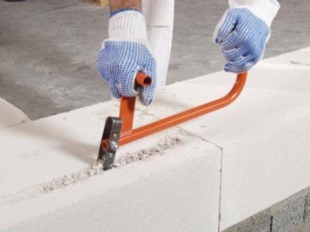Использование ручного штробореза для газобетона
