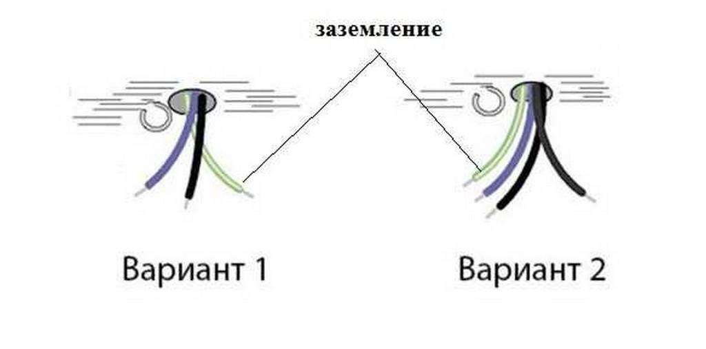 Как подключить люстру - провод заземления
