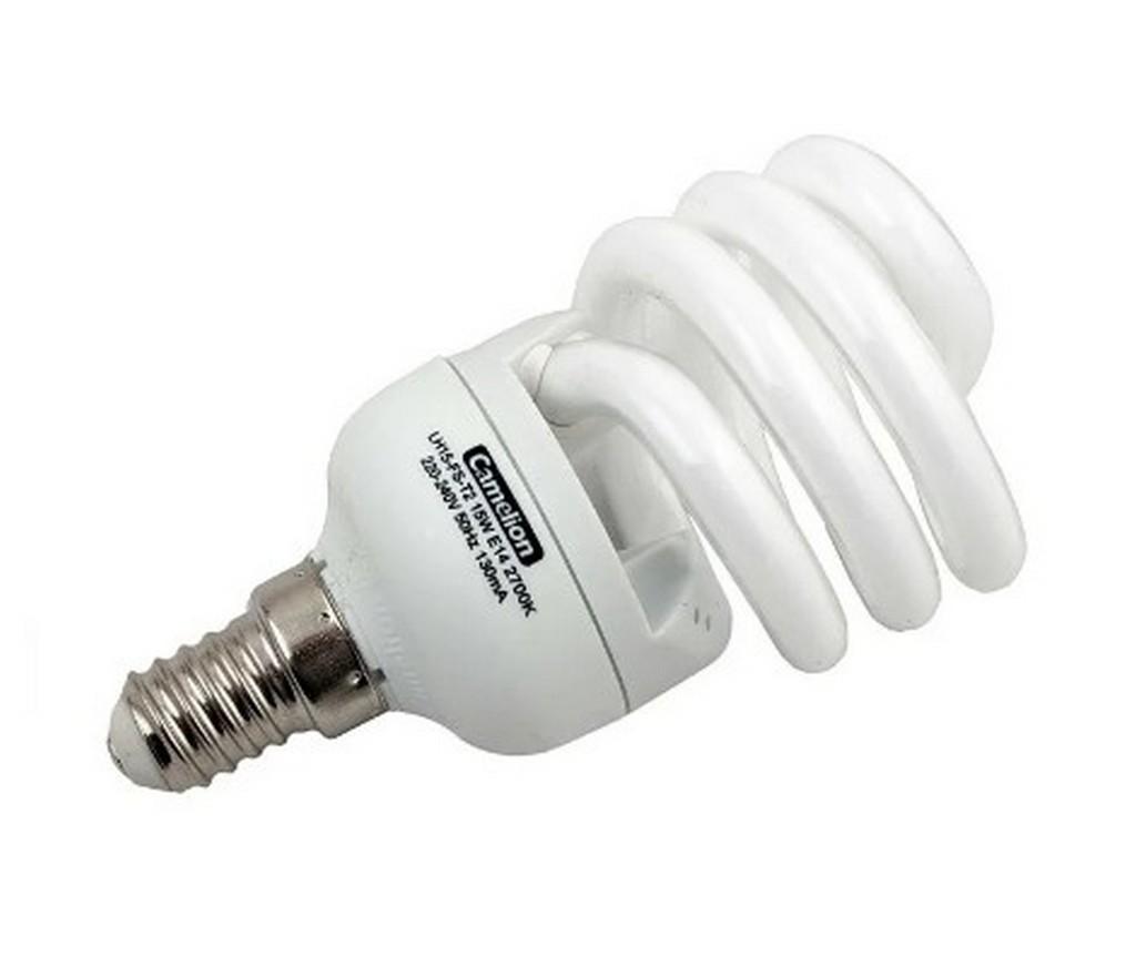 Энергосберегающая лампочка со спиральной колбой