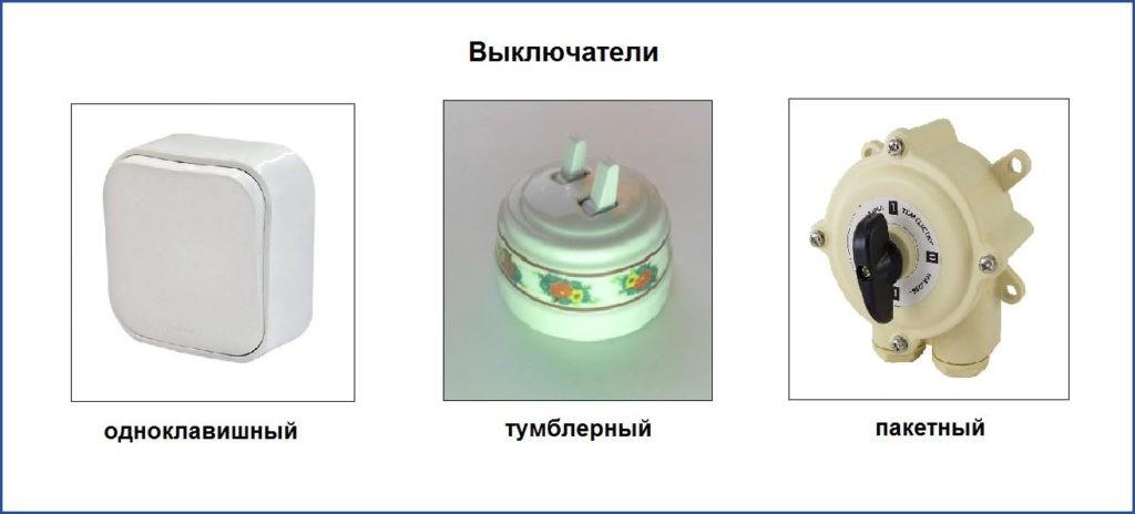 Типы выключателей для дома
