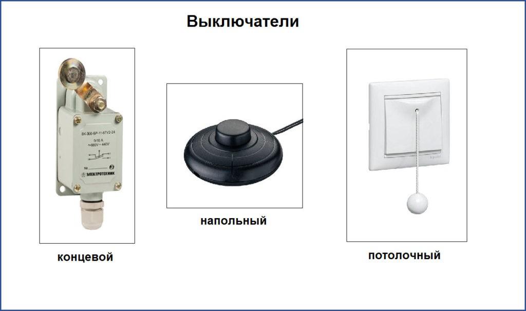 Нестандартные типы выключателей
