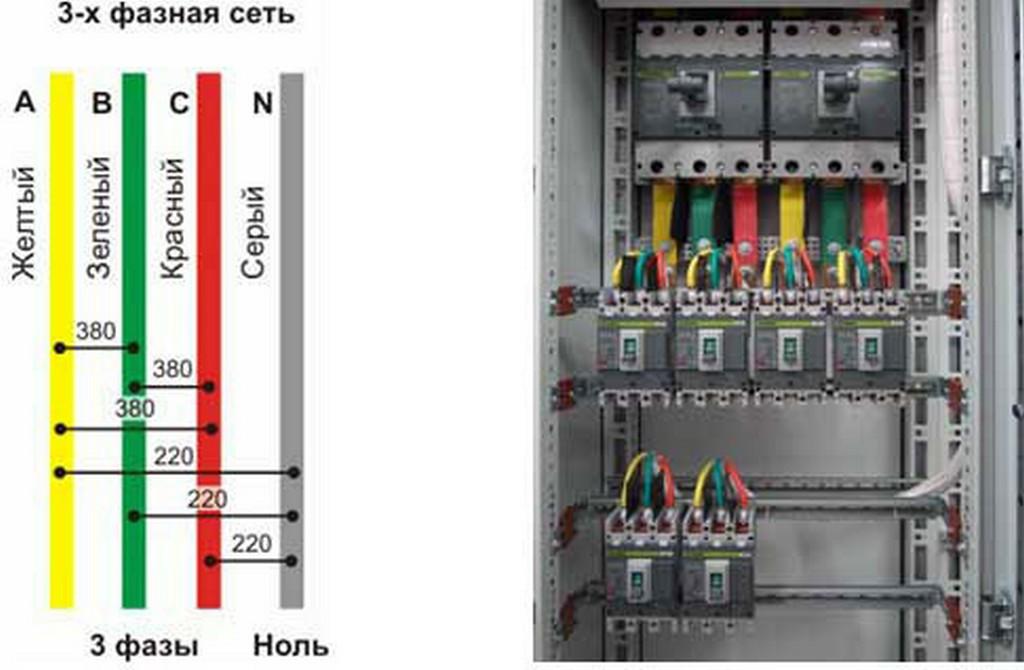 Буквенное обозначение проводов (цвета проводов отсутствуют)