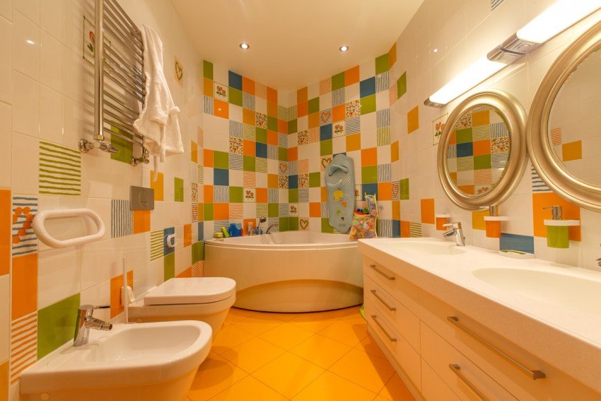 Плитка в ванной комнате: советы по выбору, виды, формы, цвета